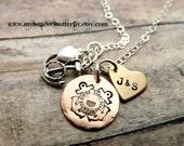 Coast Guard necklace-personalized necklace-coastie-USCG-heart-anchor-handstamped-coast guard mom-coast guard wife-coast guard girlfriend