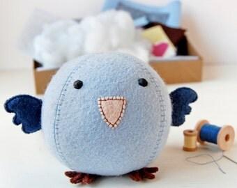 Bluebird Craft Kit - Make Your Own - Children's Sewing Kit - Creative Activity Kit - Bluebird Bird Toy - Woodland Animal Toy - Bird Lover