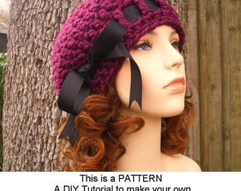 Instant Download Hat Crochet Pattern - Beret Crochet Pattern - Womens Crochet Hat Pattern for Escargot Beret Pattern - Womens Accessories