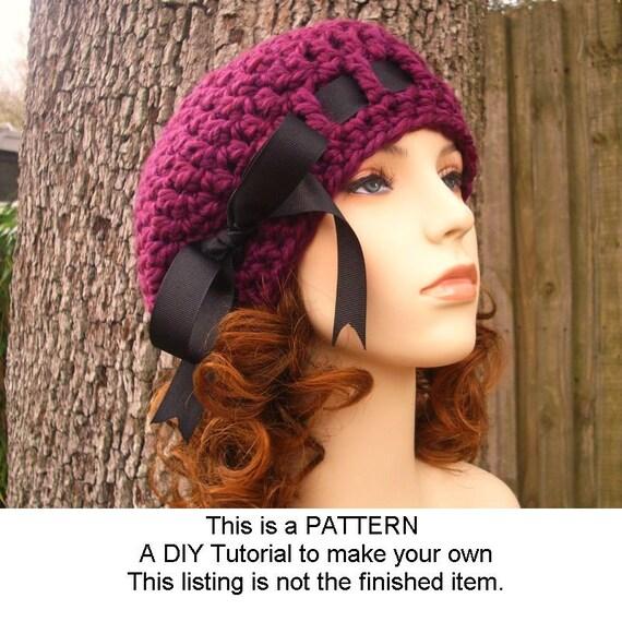 Instant Download Hat Crochet Pattern - Beret Crochet Pattern - Womens Crochet Hat Pattern for Escargot Beret Pattern - Womens Accessories