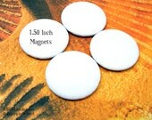 ABEO-(4)-1.50inch.. REGULAR Canvas MAGNETS Four Small Art Canvas Buttons