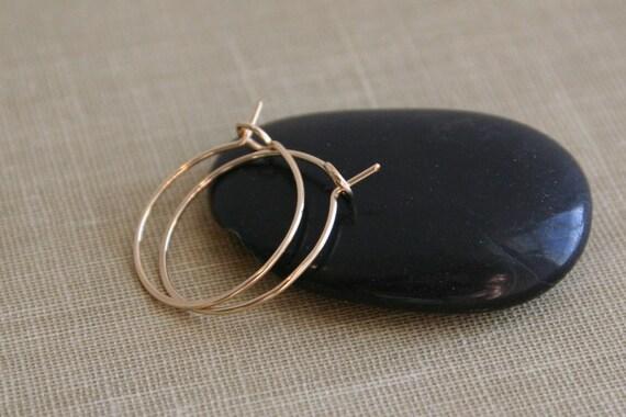 14K Gold Filled Hoops Sleeper Earrings in Small