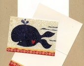 Fancy Whale Blank Notecard Set