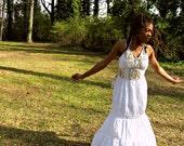 Divine Orisha Halter Harvest Dress