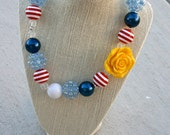 Nautical Bubblegum Necklace
