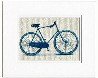 bike in blue print
