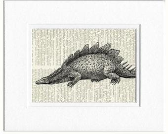 Dinosaur Stegosaurus print