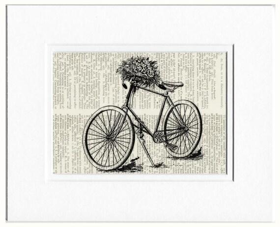 bike with flowers I print