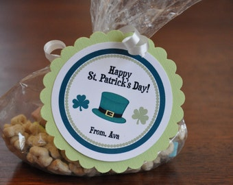 St. Patrick's Day Tags. St. Patricks Day. Gold. Set of 12. Tags. Irish. Clovers