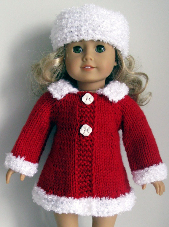 Mad Men classic A-line Coat & Hat AG American Girl 18 by KNITnPLAY