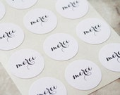 48 Merci Stickers, French Stickers, Envelope Labels, Wedding Seals, Gift Wrapping, Round Stickers
