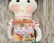 Nellie Soft Doll Pattern ragdoll Easy Download pattern now