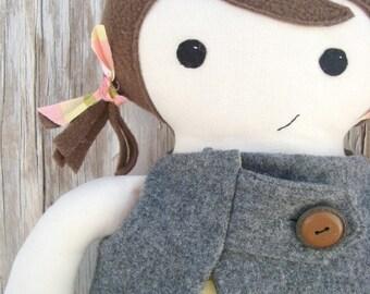 Easy Girl Doll Pattern  pdf cloth doll ragdoll Download Pattern Now