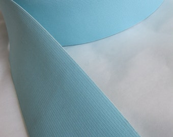 FOR AM - 8 YDS - Robin's egg blue elastic, 3 inches extra wide