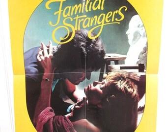 Vintage Book Advertising Poster - Familiar Strangers by Bettina Montgomery - Romance Novel