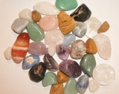 1 Lb of Mixed Tumbled Crystals and Stones