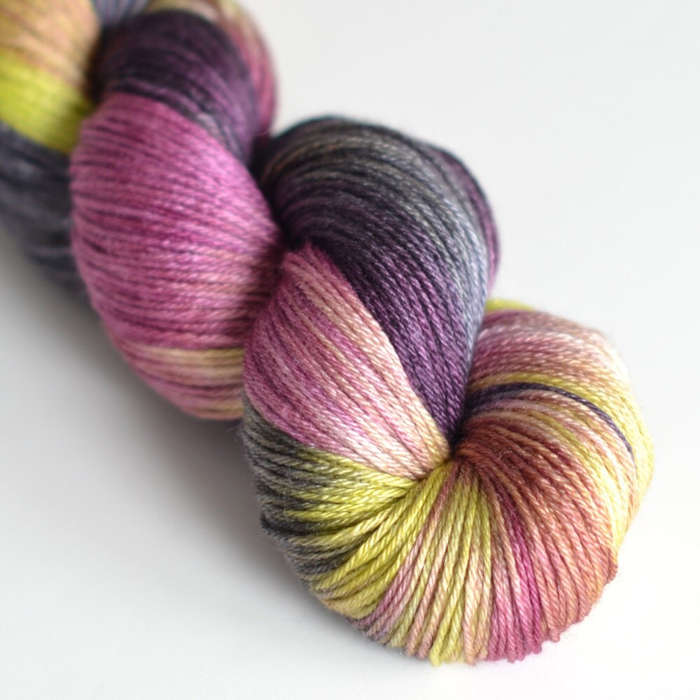 Hand Dyed Yarn : Hand Dyed Yarn Silk and Superwash Merino Wool by ToilandTrouble