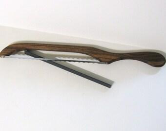 Bread Knife Made Of Walnut  Wood