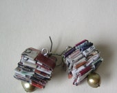 Eco Friendly Earrings - Paper With Pearls
