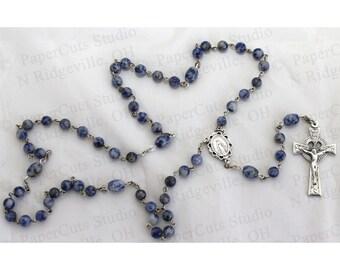 Handmade Sodalite Bead Rosary- 6MM beads