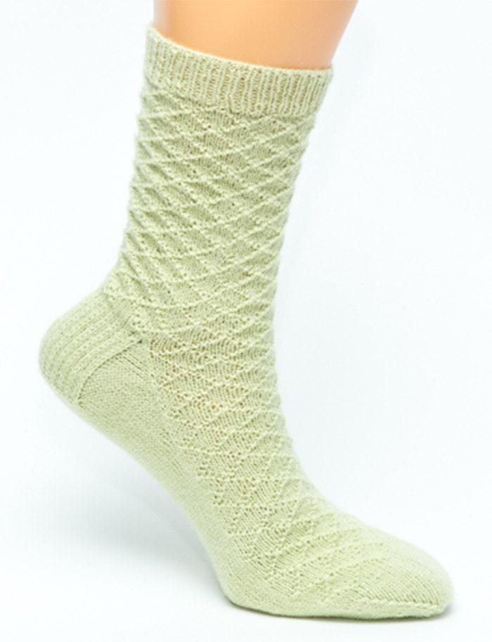 Knitting Pattern For Cashmere Socks : Diamond Knit Socks Repurposed Cashmere