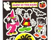 Sandylion Glow in the Dark Disney Halloween Stickers Maxi Sheet MOC Vintage NIP