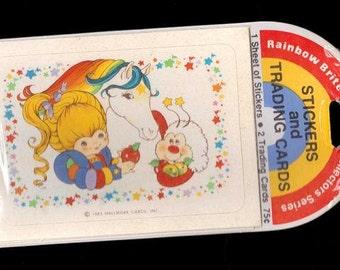 Vintage 1983 Hallmark  Rainbow Brite Sticker and Trading Card Set NIP Horse Sprite