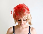 Vintage Feather Hat - Valentines Day Sweetheart Fascinator - zwzzy