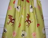 Pillowcase Dress FARM FRESH Riley Blake Citrine Plaid Cow Pig Sheep size 2t