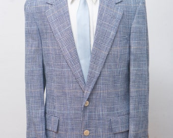Size 42 Vintage Bill Blass Plaid Sport Coat