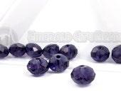 Purple, 8mm, Faceted Rondelle, 20 Pieces, 8GL13-0010