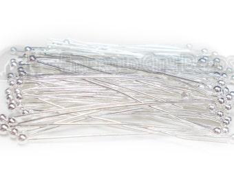 "Ball Head Pins, Silver Plate, 2"", 24 Gauge, 100 Pieces, 5PI71-0004"