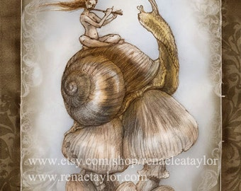 Snails Song, Post Card by Renae Taylor