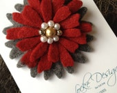 One Of A Kind - Repurposed Felted Wool Brooch -  Classic Be My Valentine