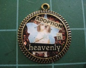 Adoption Is Heavenly, Beagle Fairy Glitter Pendant, Basset Hound, Fox Hound, Cute Dog Rescue Jewelry