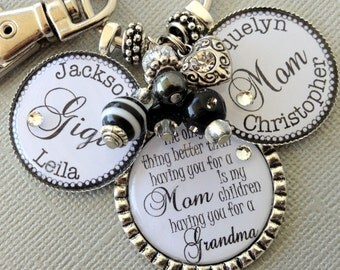 PERSONALIZED gift, Grandma necklace, Grandma gift, Children's Names, only thing better than having you for mom, Birthday gift, heart