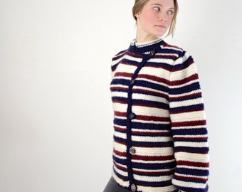 Striped Sweater / Handmade Vintage Sweater