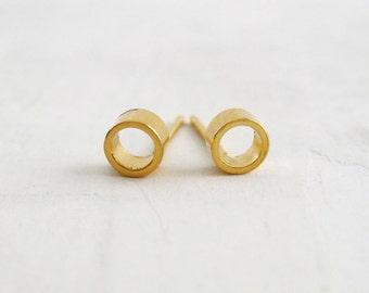 Circle Posts 18K Gold Vermeil