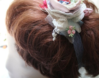Little Bits of lace, stretch headband for the little one or flower girl