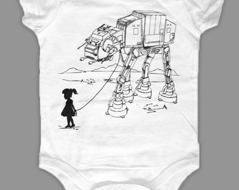 My Star Wars AT-AT Pet Baby Bodysuit, infant funny onesie, geeky outfit, baby shower gift, 1st birthday gift, baby star wars, baby gift