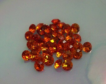 24 ss29 Fireopal Vintage Swarovski Fireopal Chatons Size ss29 29ss Brillion Measuring 6.3mm Rhinestones Article 1012 Brillion Crystal