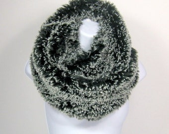 Faux Fur Scarves Fake Fur Scarves  Fur Scarves Faux Fur Infinity Scarf  Black and White Fur Scarves Winter Scarves Fake Fur Scarf Faux Fur