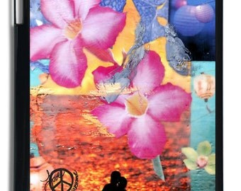 iPad 4, iPad 3 and iPad 2, INDIAN SUMMER, Case, Avail. in Black or White, Swimming, Shells, Flowers, Custom made iPad Case