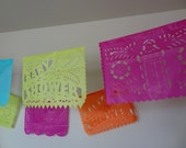 Papel Picado Baby Shower (RUSH 1 banner) Banners with a baby stroller, Baby Shower, and a baby bottle garland