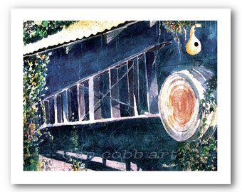 "Barn Garage Art ""Mrs. Jacob's Ladder"" Prints Signed and Numbered"