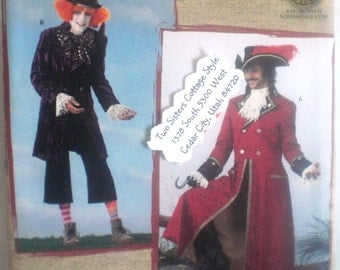 Sewing Pattern for Mad Hatter and Captain Hook Costumes