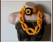 All Wrapped Up Golden Yellow Infinity Looped T shirt Jersey Scarf
