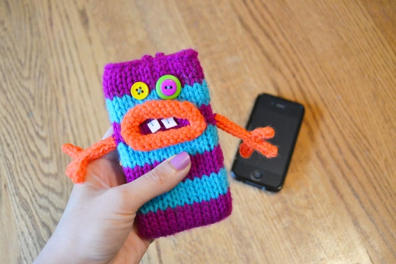 Knit Monster Cell Phone Cozy