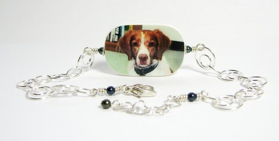 Pet Memorial Photo Charm Bracelet  - P1RB5
