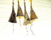 Personalized Bell - HandMade TO ORDER Custom Stamped & Art Painted Musical Bell Instrument - Inspirational Kids Nursery Hanging, Wind Chime